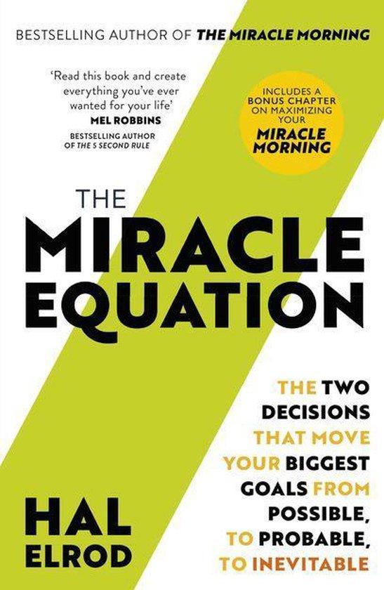 Boek cover The Miracle Equation van Hal Elrod (Onbekend)