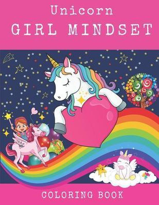 Unicorn Girl Mindset Coloring Book