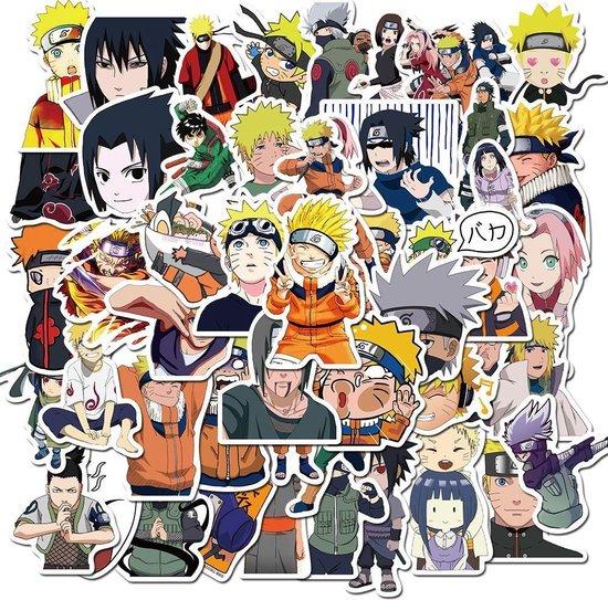 Naruto stickers – Naruto – 50 stuks – Anime stickers - Naruto manga - Anime merchandise - Stickers volwassenen - Stickers kinderen - Laptop stickers