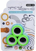 Fidget Toys - Magnetische Ringen - Spinner - Groen