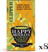 Clipper Happy Mondays Organic Herb Tea  - 8 x 20 zakjes