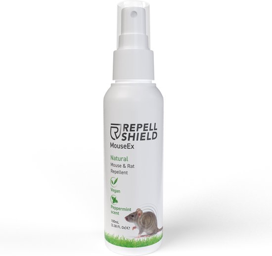 RepellShield Muizen bestrijden - Ongediertewering | Diervriendelijke Muizenverjager, Muizen verjagen met geur, Anti-Muizen Spray 100ml