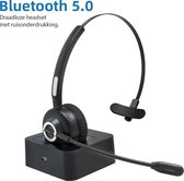 G2G Professionele Headset met Microfoon – Bluetooth 5.0 - Koptelefoon - Headset - Headset met bluetooth - Bluetooth koptelefoon - Bluetooth headset - Draadloos met Laadstation – Headset - Microfoon