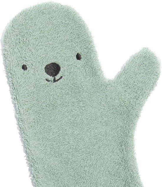 Baby Shower glove - Baby Washand - Groen