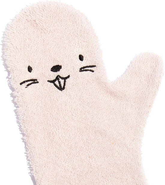 Baby Shower Glove - Bever - Roze