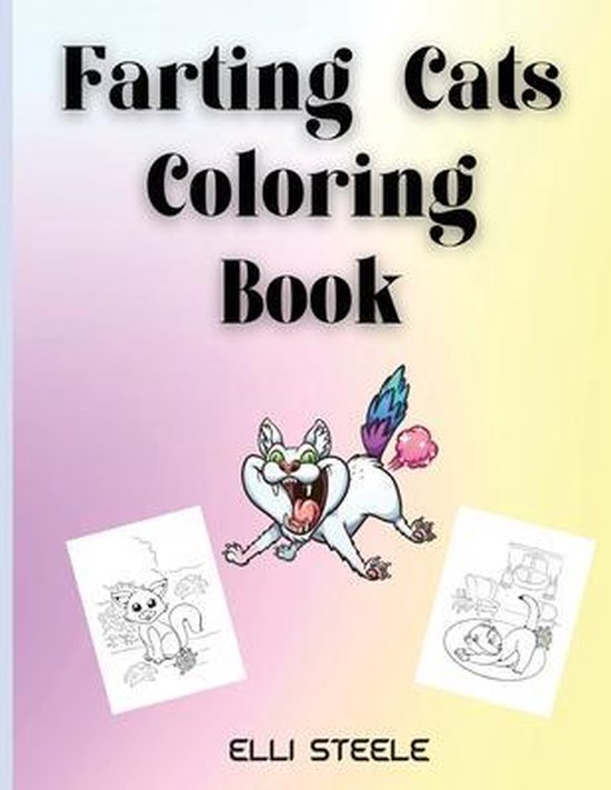 Farting Cats Coloring Book