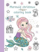 Mermaid Christmas coloring book