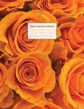 Graph Composition Notebook: Grid Paper Notebook: Large Size 8.5x11 Inches, 110 pages. Notebook Journal: Orange Roses Flower Workbook for Preschool