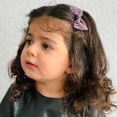 Haarspeldje pink/grey zebra | Roze, Grijs | Meisje