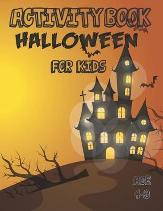 Halloween Activity Book For Kids 4-9