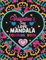 Valentines Day Love Mandala Coloring Book