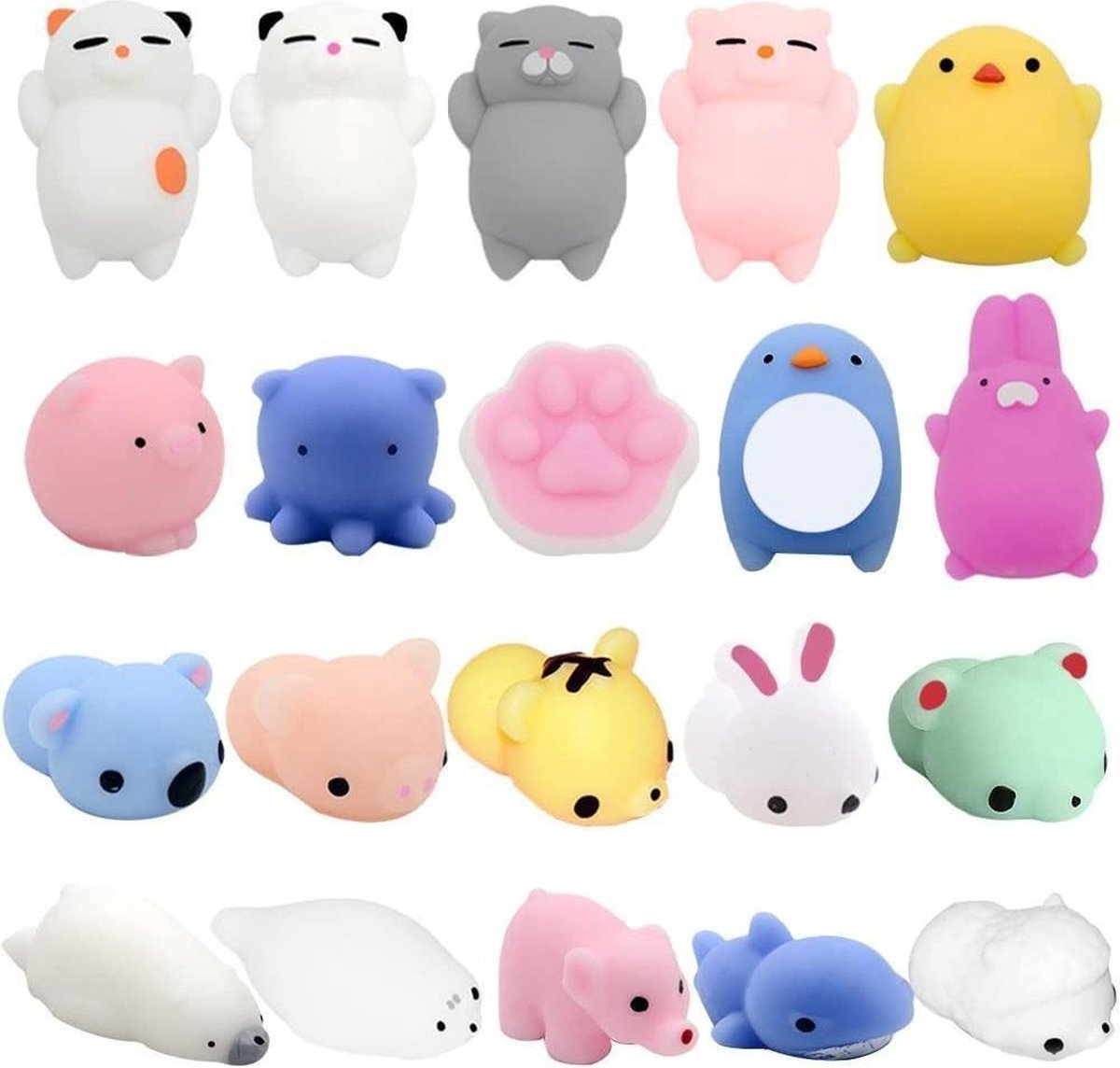 fidget toys - mochi Squishy - pakket van 10 stuks - squishy dieren - animal - mochies