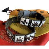Yak Benen Armband 8 Gelukstekens Zwart-Wit Large (Set van 2)