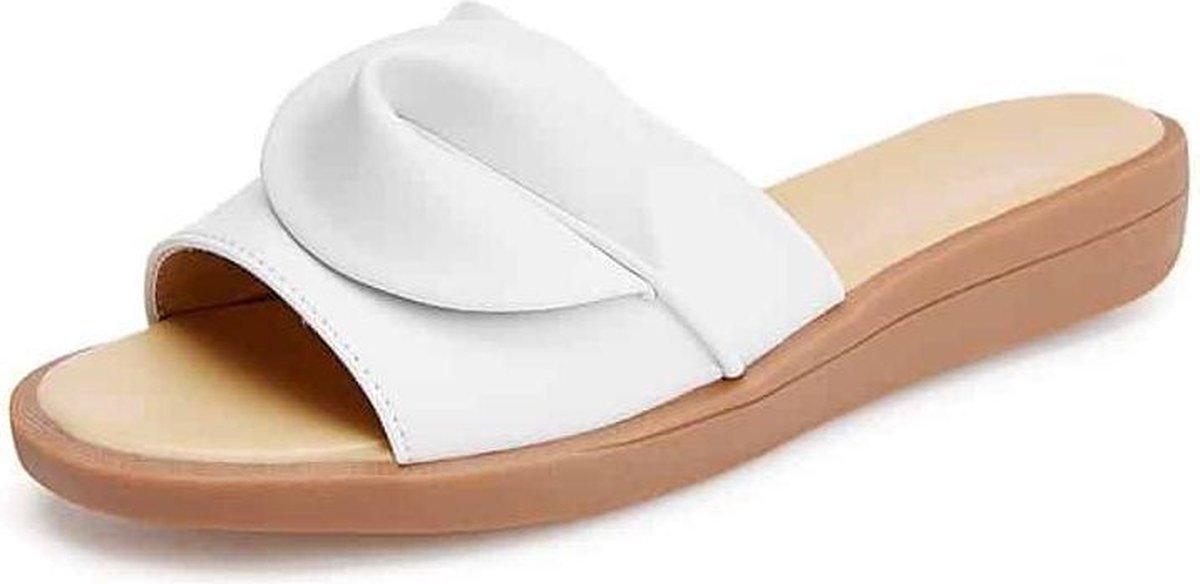 Antislip Slijtvaste Casual Wild Slippers Sandalen voor dames (Kleur: Wit Maat: 39)