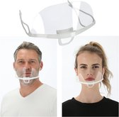 Face Shield - Gezichtscherm - Transparant Mondkapje - Doorzichtige Mondmaskers - Plastic Vizier - Per 2 Stuks