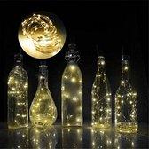 3 Stuks Led Kurk Flesverlichting - inclusief Batterijen - Feestverlichting - 10 Lampjes in een fles - lichtsnoer - 1 meter