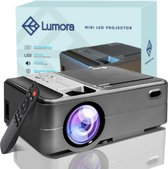 Lumora – Mini Beamer Wifi – Compact – Projector- 3800 Lumen – HD - Inclusief HDMI Kabel – Afstandsbediening – Mini Projector - Beamer – Zwart