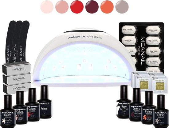 MEANAIL® Kit Sphere UV/LED lamp 48w - 6 kleuren Cruelty Free - Gel nagellak