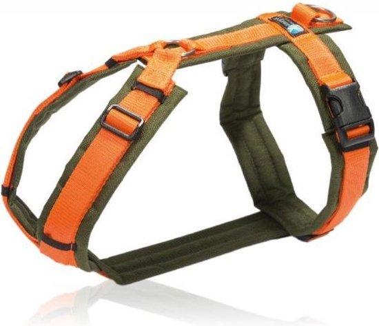 Anny-X hondentuigje- XXS-groen-oranje-voor-puppy-of-kleine-hond