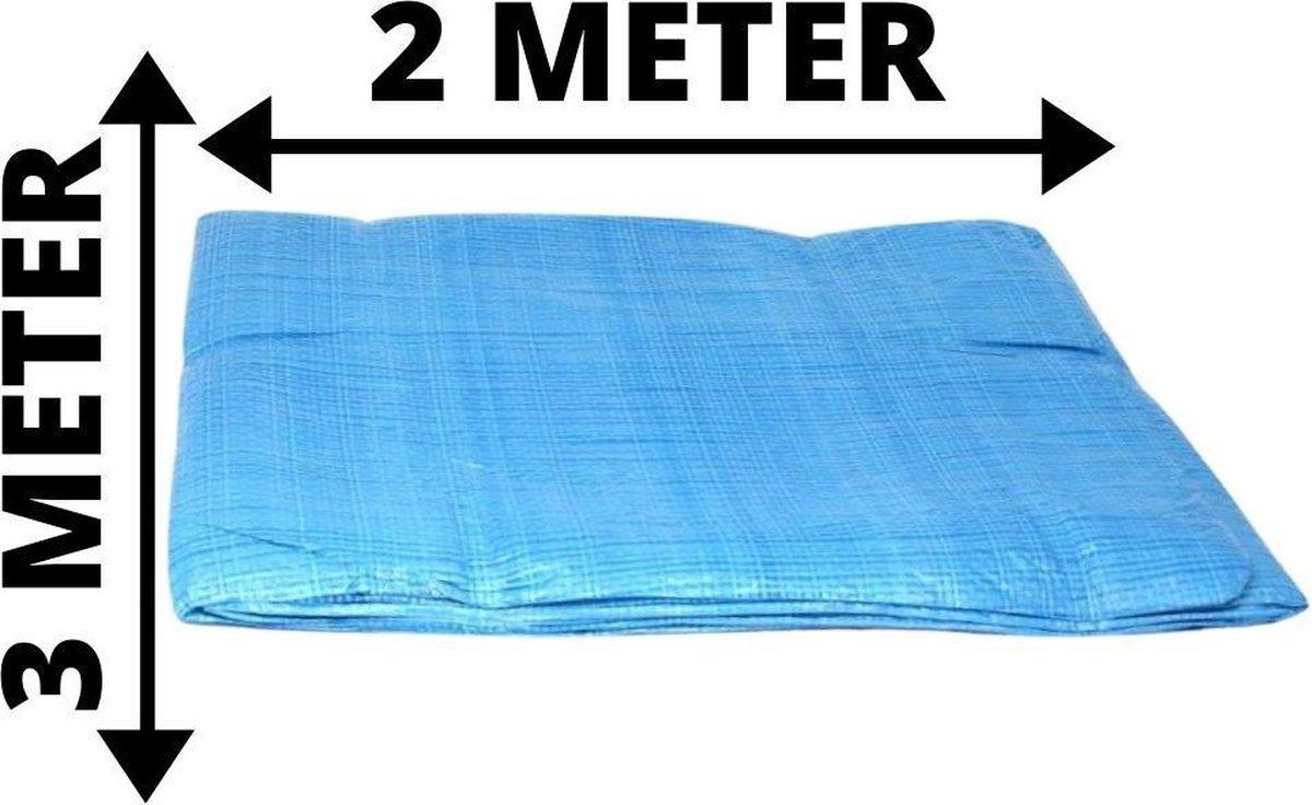 Orange85 Zeildoek - Afdekzeil - Waterdicht - 2 x 3 meter - Afdekzeil zwembad - 300 cm x 200 cm - Aan