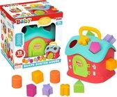 Vormenstoof - Blokkendoos - Huis - Speelgoed vanaf 1 jaar - Speelgoed 1 jaar - Speelgoed meisjes 2 jaar - Speelgoed jongens 2 jaar - puzzel 2 jaar - Peuter speelgoed meisje -Jongens speelgoed 2 jaar - Baby Speelgoed
