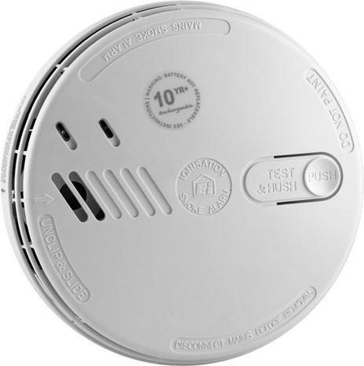 Ei 146 Rookmelder - 230v/Lichtnet - NEN2555 - 9V Backupbatterij - Easi-Fit