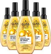 Gliss Kur Oil Nutritive Dream Hair Vederlichte Oil 5x 150 ml - Voordeelverpakking