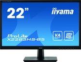 "iiyama ProLite X2283HS-B5 LED display 54,6 cm (21.5"") 1920 x 1080 Pixels Full HD Zwart"