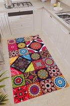 Badang Home Decoratief, wasbaar, dunne antislipbodem (binnen / buiten) Bedrukt vloerkleed Veelkleurig