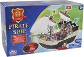 Piratenschip met 23 accessoires.