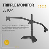 NRLogic - Draaibare monitor arm geschikt voor 3 schermen  – Monitor arm – Monitor Beugel – Monitorarm – Monitor Standaard – Tripple Monitor set-up –  Monitorbeugel – Monitorstandaard – Monitor Arm – Monitor Beugel – Monitor Standaard 3 Schermen