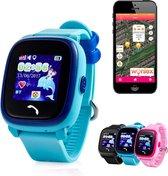 GPSHorlogeKids Wonlex – GPS horloge kind – smartwatch voor kinderen – GPS tracker – SOS alarm – bellen – IP67 waterdicht - Junior Aqua Wifi – incl. simkaart en online installatie hulp – Blauw