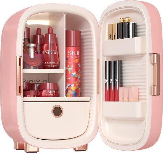 Koelkast: Knikker® Skincare Beauty Fridge - Make up Koelkast & Organizer - 12L - Roze, van het merk Knikker Cosmetics