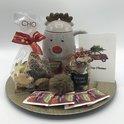 """Kerstpakket """"Winter glow""""   185 gram chocolade - 160 gram kerstkoekjes - relatiegeschenk - voor hem - voor haar - uniek kerstcadeau - Kerstmis giftset"""