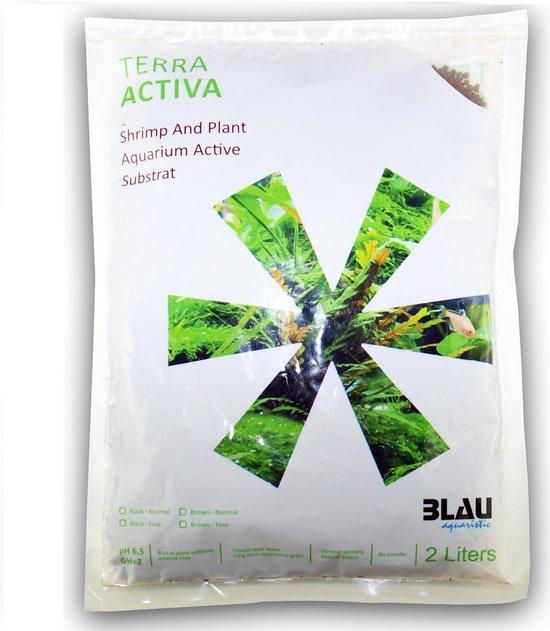 BLAU terra activa soil brown- 2 Liter - Aquarium Bodem - PH Verlagend