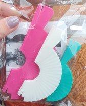 pomponmakers - 3 stuks - 5/8/10 cm - pomponmaker - pompons - wit blauw roze