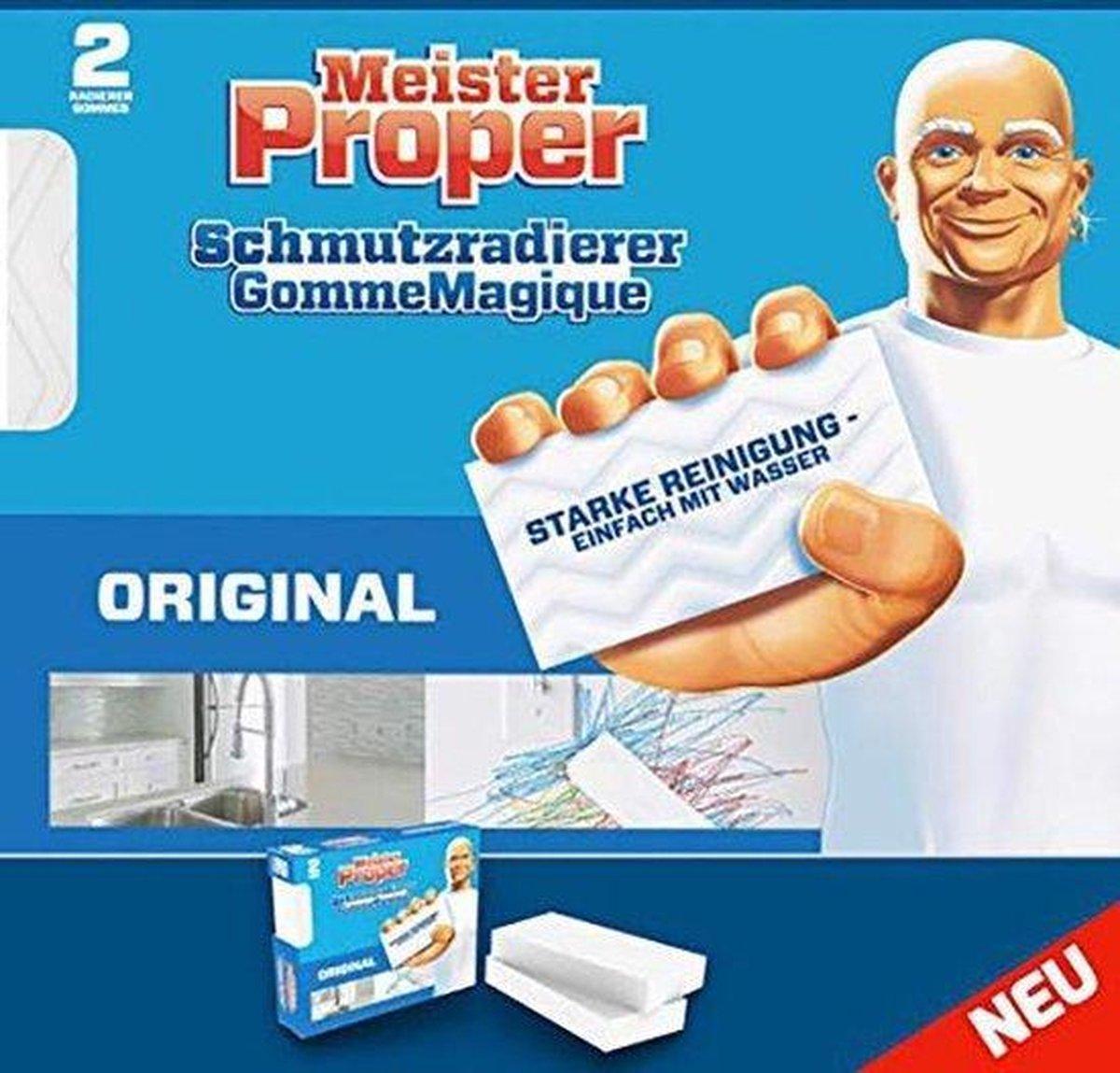 Mr.Proper - wondergum - wonderspons - krachtige schoonmaakbeurt met ALLEEN water - 2 gommen × kopen