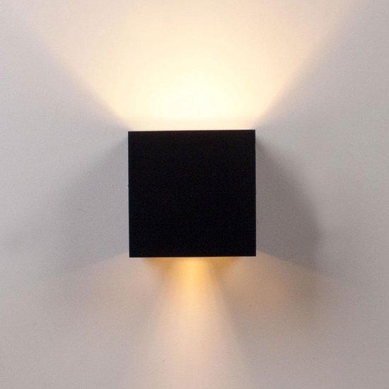 Rilimo® - LED Kubus Wandlamp – Met Beweging Sensor - LED Lamp – Buitenlamp Met Bewegingsmelder – Buitenlamp – Buitenverlichting – Muurlamp – Tuin Verlichting – Wandspot – Sfeerverlichting