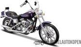 Harley Davidson FXDWG Dyna Wide Glide (Paars) 1/18 Maisto - Modelmotor - Schaalmodel - Model motor - Schaal model - Modelauto - Model autoM