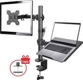 Douxe DX-001LP – Monitor Beugel voor één scherm en laptop – Monitor Arm voor laptop tot en met 32inch  – Monitor Standaard – Laptop Standaard – Monitor Arm 2 Schermen – Zwart