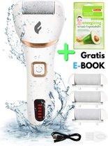 Pedicure Apparaat Voetvijl Eeltverwijderaar Elektrisch Eelt Rasp - E-Book + 3 rollen - Oplaadbaar - Eeltschaaf - Eelt Vijl - Eeltsokken - Fability®