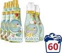 Robijn Klein & Krachtig Kokos Sensation Vloeibaar Wasmiddel 3x20 wasbeurten + Robijn Wasverzachter Kokos Sensation 2x 30 wasbeurten