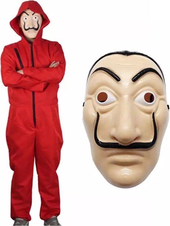 La Casa De Papel jumpsuit-onesie - kostuum- met masker- Maat M/L