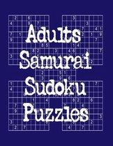 Adults Samurai Sudoku Puzzles