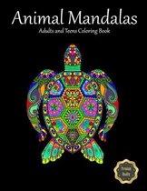 Animal Mandalas. Adults And Teens Coloring Book