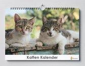 Cadeautip! | Katten Verjaardagskalender 35x24 cm | Kalender