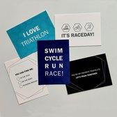 Triathlon ansichtkaarten - set van 5 kaarten