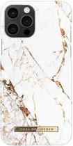 iDeal of Sweden - iPhone 12 Hoesje - Fashion Back Case Carrara Gold