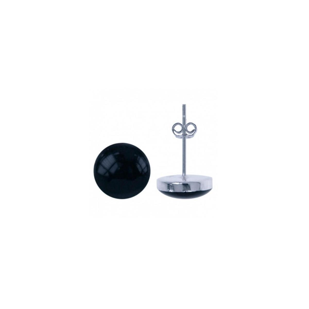 House of Jewels - Zwarte Onyx Oorknopjes met Zilver 6mm - House of Jewels