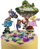 Super Mario Bros | cake flags | taart vlag | taartversiering | taart topper | taart decoratie | decoratie topper